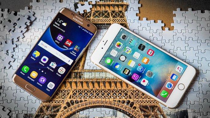 S7 edge против iPhone 6s plus