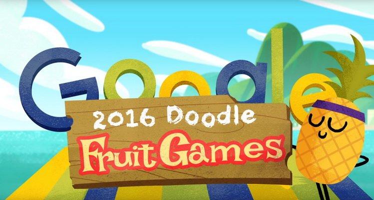 Фруктовый Google Doodle посвященный Олимпиаде в Рио 2016