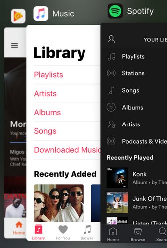 Обзор и сравнение Spotify vs Apple Music vs Google Play Music