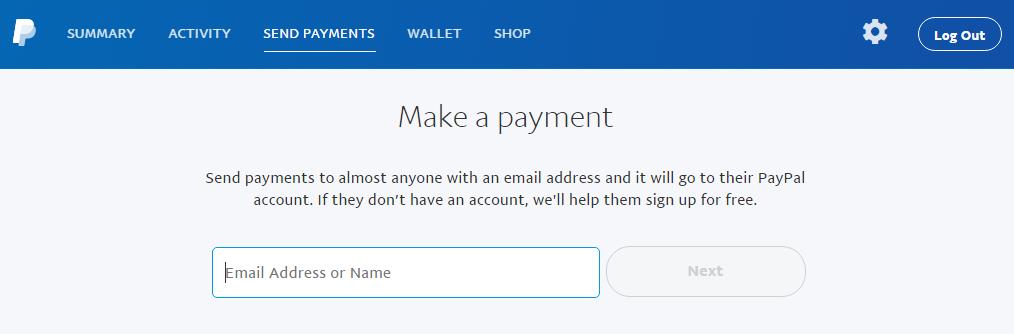 перевод денег на другой аккаунт PayPal
