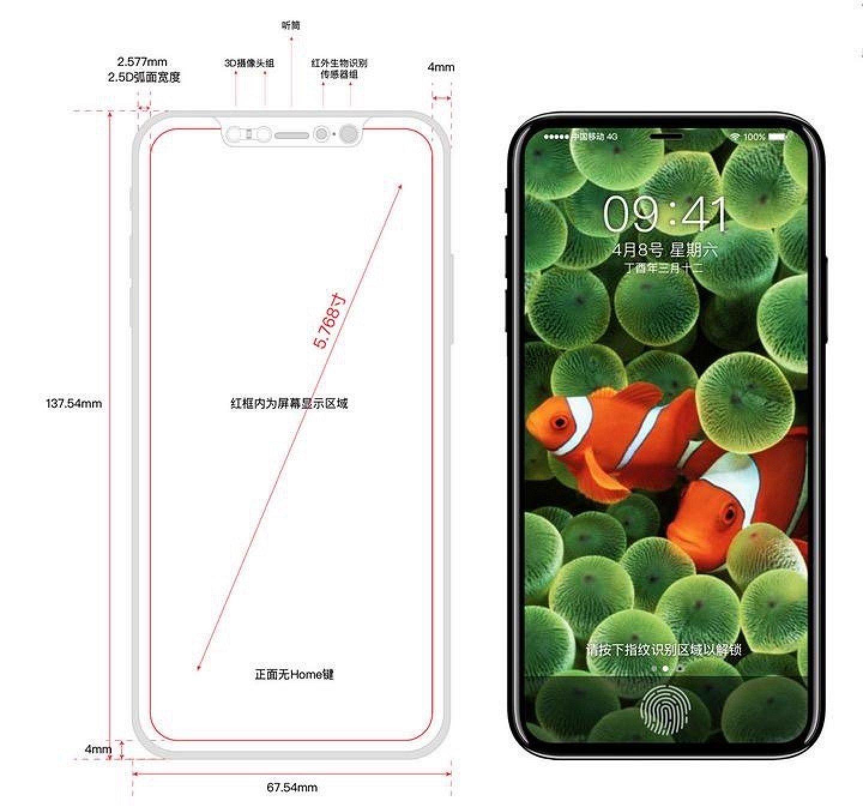 Утечка: возможный внешний вид iPhone 8