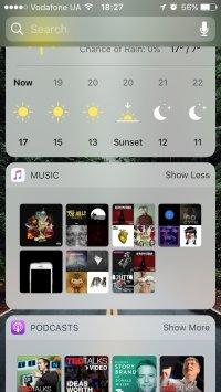 Пример виджета Apple Music для iOS