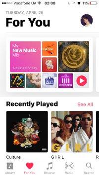 Apple Music рекомендации