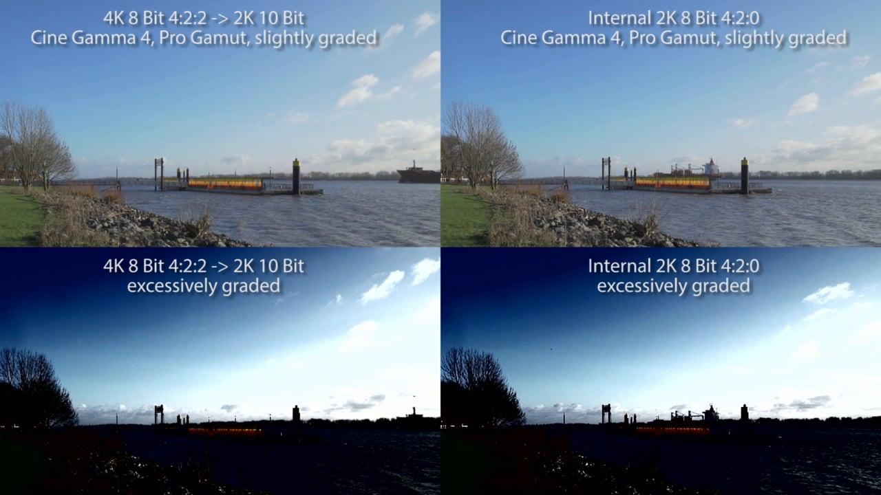 8-bit vs 10-bit 4:2:2 vs 4:2:0