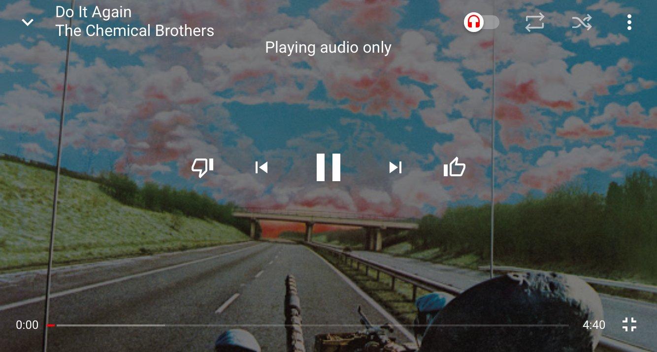 вертикальный режим воспроизведения ютуб музыка скриншот