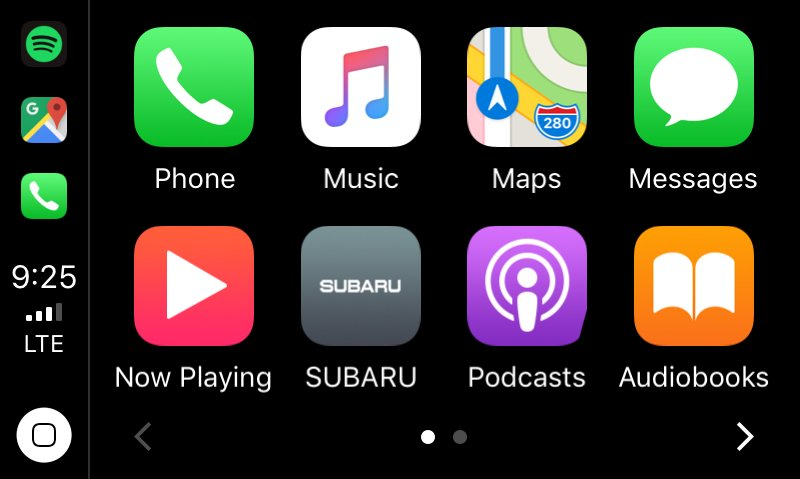 carplay subaru outback 2018